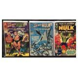 3 vintage hulk and submariner comics