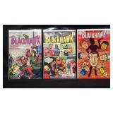 Vintage DC Blackhawk three comic books