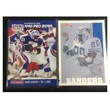 2 Barry sanders football cards