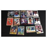 14 assorted baseball cards Sosa, Henderson