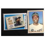 2 Hank Aaron baseball cards