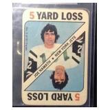 1971 TOPPS game insert card Joe Namath