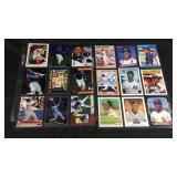 Lot  of 18 Ricky Henderson baseball cards