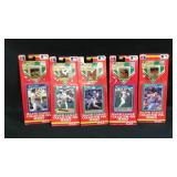 Five 1991 collector pin series baseball