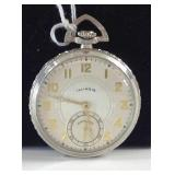 "Vintage Illinois ""Sterling"" 21 jewel pocket watch"