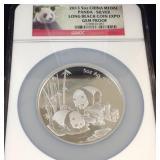 2013 5 ounce China medal  panda Silver