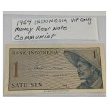 1964 Indonesia Viet Cong money rear note