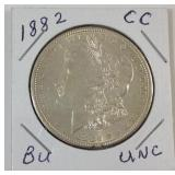 1882 CC UNC Morgan silver dollar