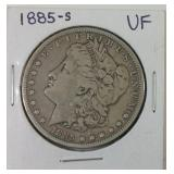 1885S Morgan silver dollar