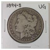 1894S Morgan silver dollar
