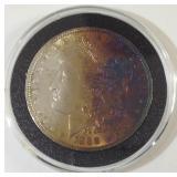 1888 toned Morgan silver dollar