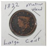 1822 Matron Head large cent