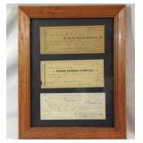 Antique freight and railroad receipts