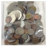 Miscellaneous bag of foreign coins