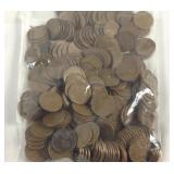 Large bag of wheat pennies