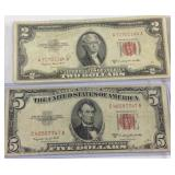 2 US red seal notes