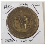 Brass NC  State Medal 200 years