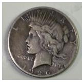 1926 US Silver Peace dollar