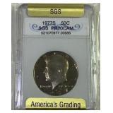 1977S Kennedy half dollar SGS PR70CAM
