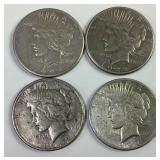 4 1922 US Silver Peace Dollars