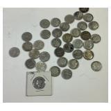 35 US Silver Dimes