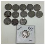 14 US buffalo nickels