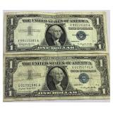 1957 A&B One dollar silver certificates