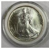 1993 US silver American Eagle
