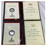 2 bicentennial day commemorative medals