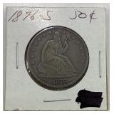 1876S seated half dollar