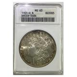 1901 O Morgan silver dollar MS 63
