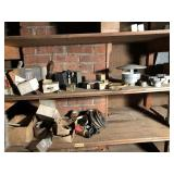 Shelf Lot Plumbing And Electrical Components