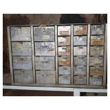 26 Drawer Parts Cabinet With Contents