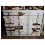 Vintage 36 Drawer Cabinet With Contents