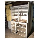 Shelf Unit With Lead Anchors, Stove Bolts and More