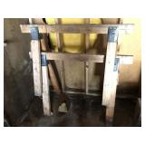 Pair of Wooden Sawhorses, 48
