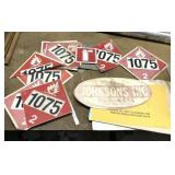 Lot Of Industrial Signs, 1075, Extinguisher etc.