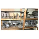 2 Shelves Of Ductwork, Hanger Brackets and More