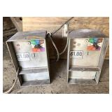 Pair of Coin Op Car Wash Control Boxes