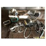Table Lot, Goggles, Drills, Respirator, Torch Kit