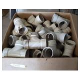 "Large Box of PVC Fittings | Most are 2"" & 3"""
