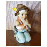 "Hummel ""Little Tooter"" Boy Playing Figurine"
