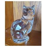 """Orrefors Glass Cat Figurine or Paperweight 