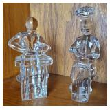 (2) Orrefors Glass Paperweights | People