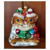 Christopher Radko Caroling Bunnies Ornament
