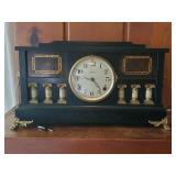 Ingraham Mantle Clock | Black Adamantine Type