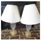 (2) Vintage Crystal Table Lamps