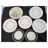 Red Wing Bob White Plates, Minton Dinner Plates