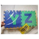 "NIB Alphabet Floor Mat | About 12"" x 12"""