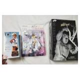 (3) NIB Action Figures- Wolf Man, Anime, Supergirl